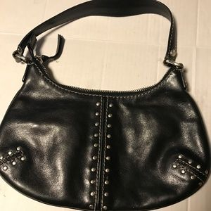 Small Black Leather Michael Kors Handbag
